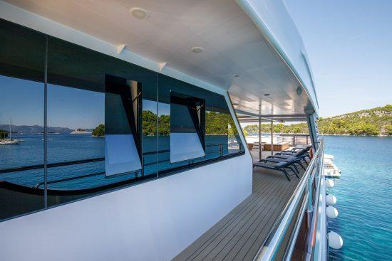 Walkway to Sun deck onboard MS My Wish